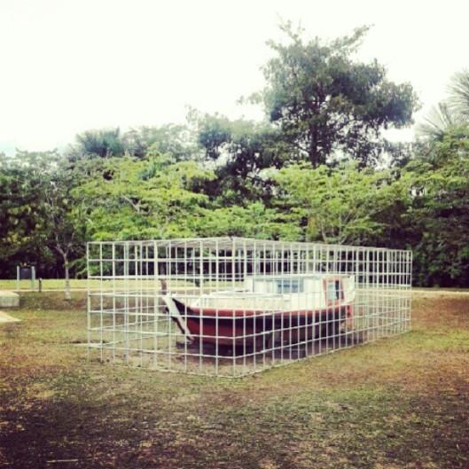 Instalação artística no Mangal das Garças